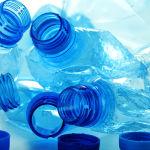 Tas bouteilles vides Bouchons Environnement Recyclage bleu