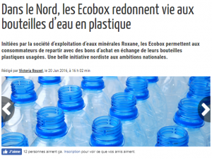 Article ConsoGlobe recyclage Bouteilles