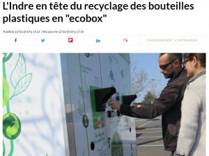 Article Presse La Nouvelle République Ecobox Recyclage