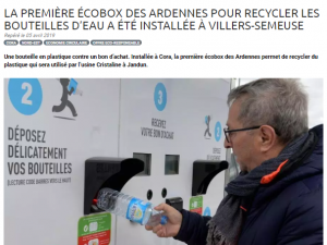Article Presse Magasin Responsable Ecobox Recyclage Villers-Semeuse