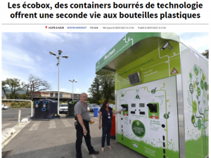 Article Presse Nice Matin Ecobox Recyclage Côte d'Azur