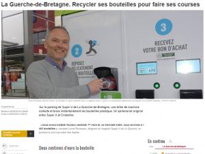 Article Presse Ouest France Ecobox Recyclage Guerche-de-Bretagne