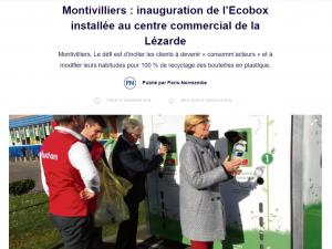 Article Presse Paris-Normandie Ecobox Recyclage Montivilliers