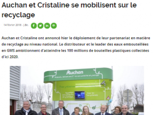 Article Rayon-boissons Ecobox Recyclage Auchan Cristaline